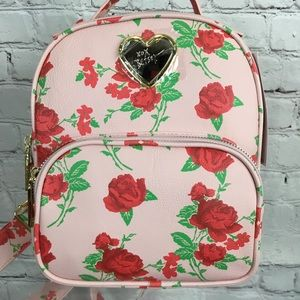 NWT Betsey Johnson Pink Floral MINI Backpack